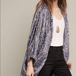 Antro Feathers By Tolani Velvet Kimono